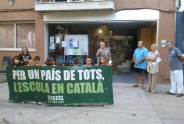 Concentració a favor de l'immersió en català a les escoles