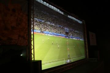 Pantalla gegant per a la final de Copa del Rei de futbol