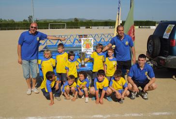 L'equip d'iniciació del CF Banyeres, campió de la temporada 2011/12
