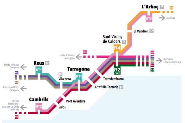 La línia de Rodalies L'Arboç-Cambrils ja està en marxa