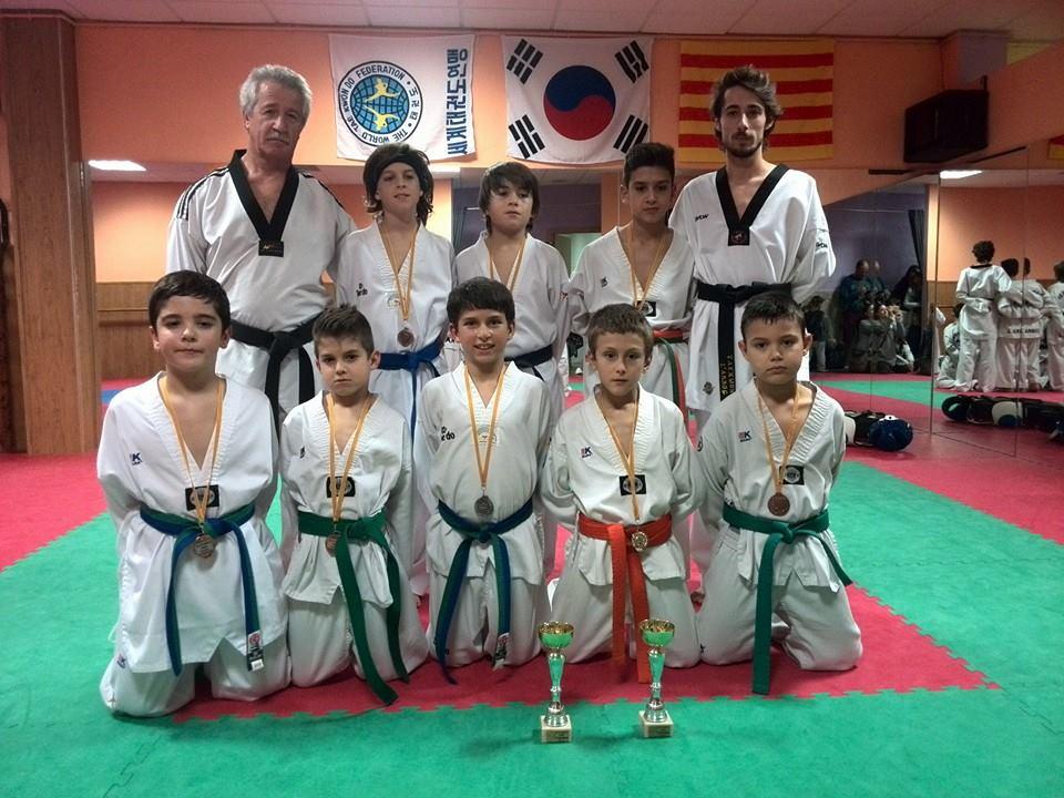 Tres banyerencs es proclamen campions de Catalunya de Taekwondo infantil