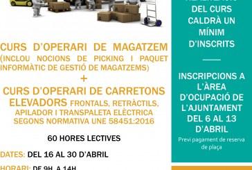 FORMACIÓ Curs d'operari de magatzem i curs d'operari de carretons elevadors a Santa Oliva