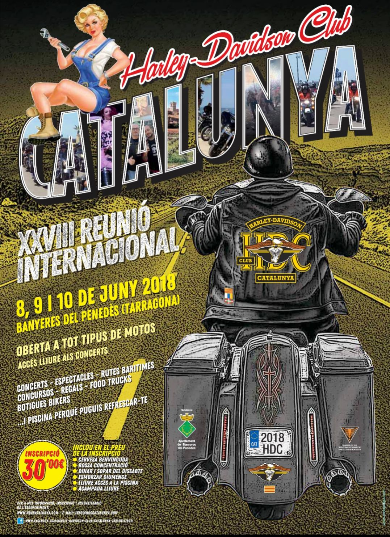 Tot a punt per a la XXVIII Trobada Internacional de Harley Davidson Club Catalunya a Banyeres del Penedès