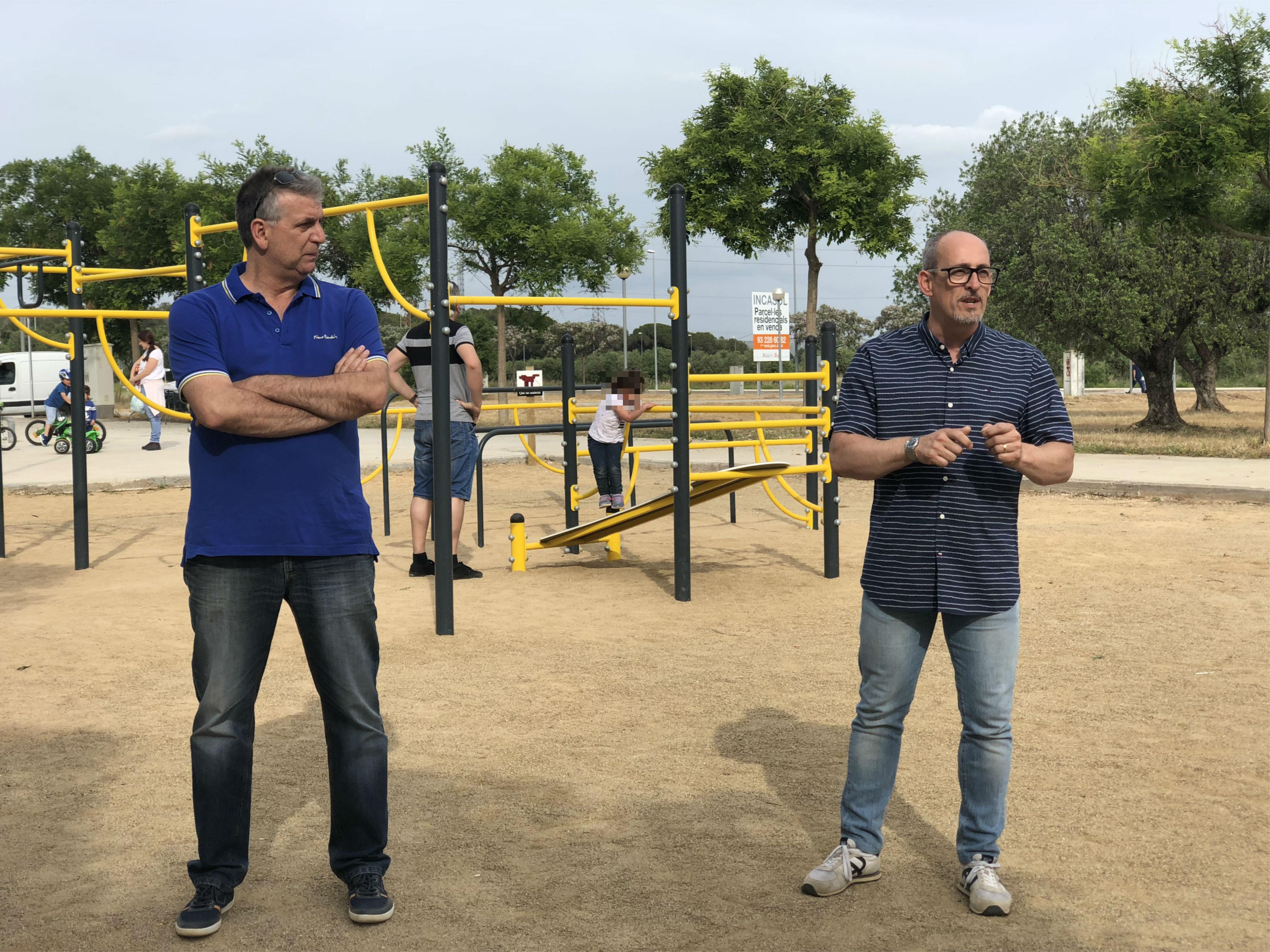 L'Ajuntament de Banyeres del Penedès inaugura el parc de cal·listènia i street workout