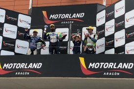 El banyerenc Joan Zamorano torna a pujar-se al més alt del pódium a la segona prova del Campionat d'Espanya de la Cup Yamaha R1