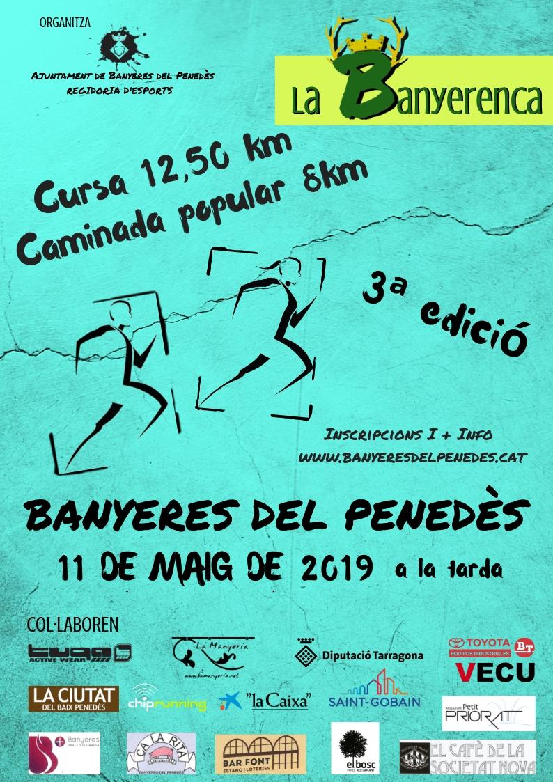 Arriba la tercera edició de la Banyerenca Run a Banyeres del Penedès